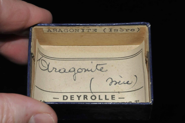 Aragonite de l'Ariège (ex Deyrolle).
