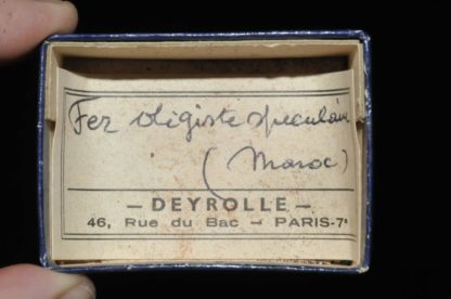 Fer oligiste spéculaire du Maroc (ex Deyrolle).