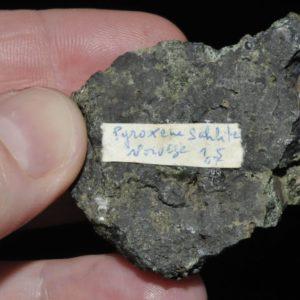 Pyroxène (sahlite) de Norvège (ex Deyrolle).