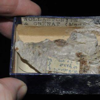 Wollastonite et grenat de Madagascar (ex Deyrolle).