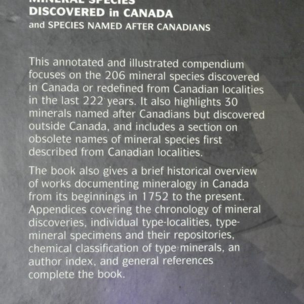 Mineral species discovered in Canada.