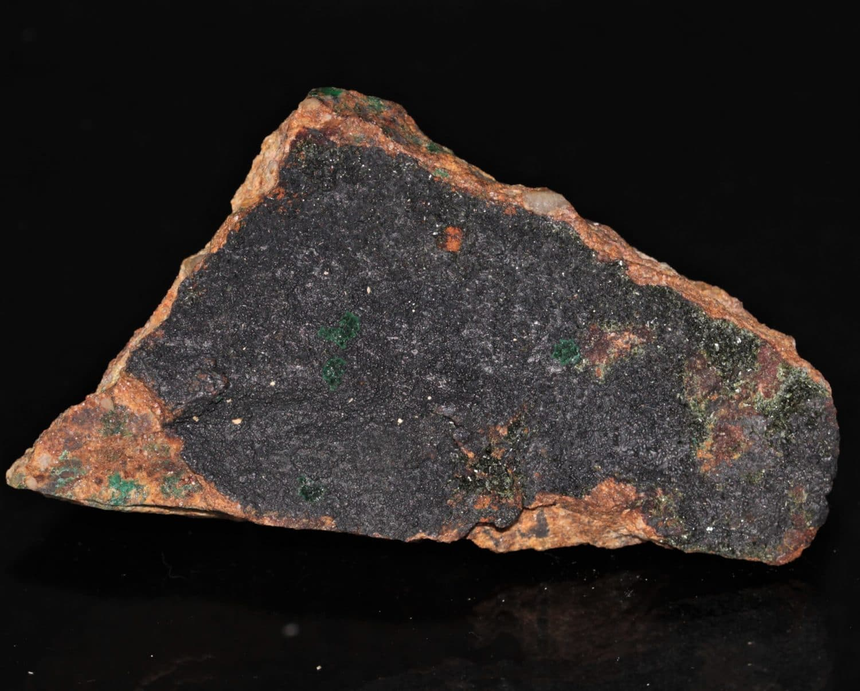 Lampadite et malachite, mine de la Garonne, Le Pradet, Var