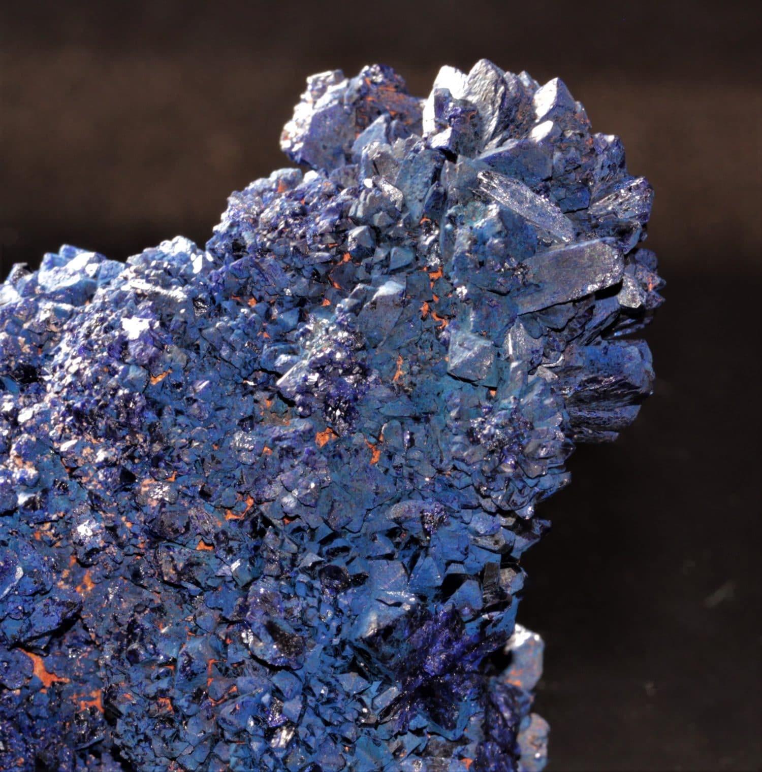 Chessylite (variété d'azurite), mine de Chessy-les-Mines, Rhône.