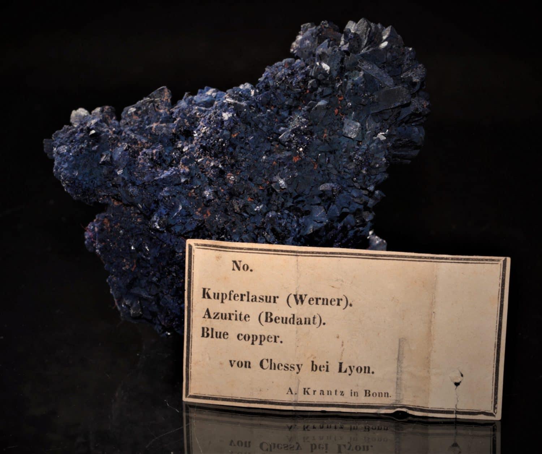 Chessylite (azurite), mine de Chessy-les-Mines, Rhône.