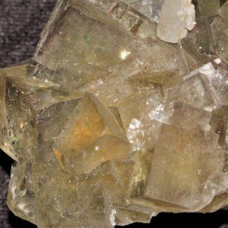 Fluorite et gros cristaux de barytine, mine de l'Avellan, Var.