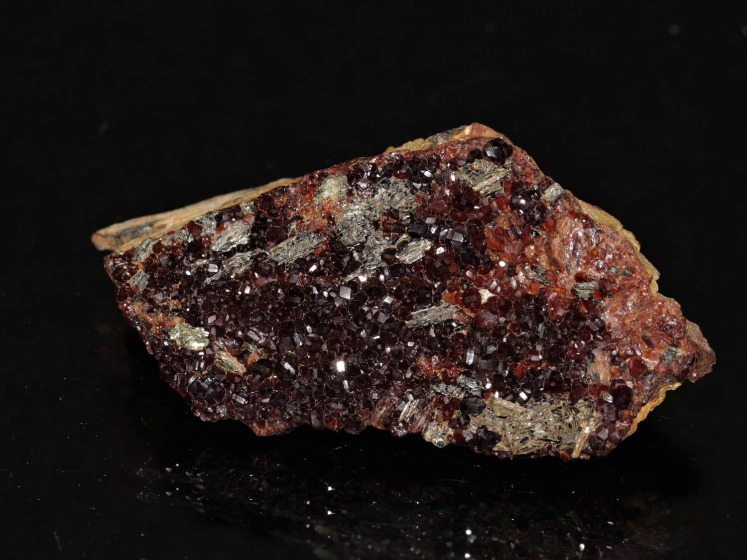 Grenat type hessonite et clinochlore, Val d'Ala, Italie.
