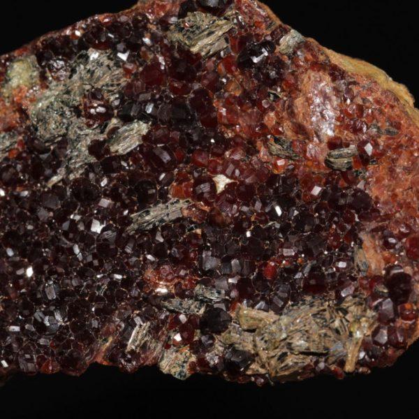 Grenat type hessonite et clinochlore, Val d'Ala, Italie.