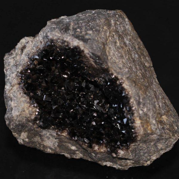 Géode de quartz morion, Richelle, Visé, Belgique.