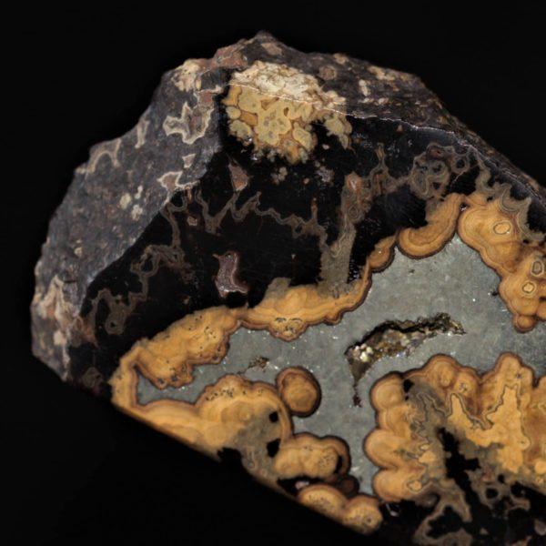 Marcasite et sphalérite, mine de Schmalgraf, Lontzen, Belgique.