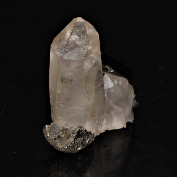 Cristaux de quartz et de wolframite, Panasqueira, Castelo Branco, Portugal