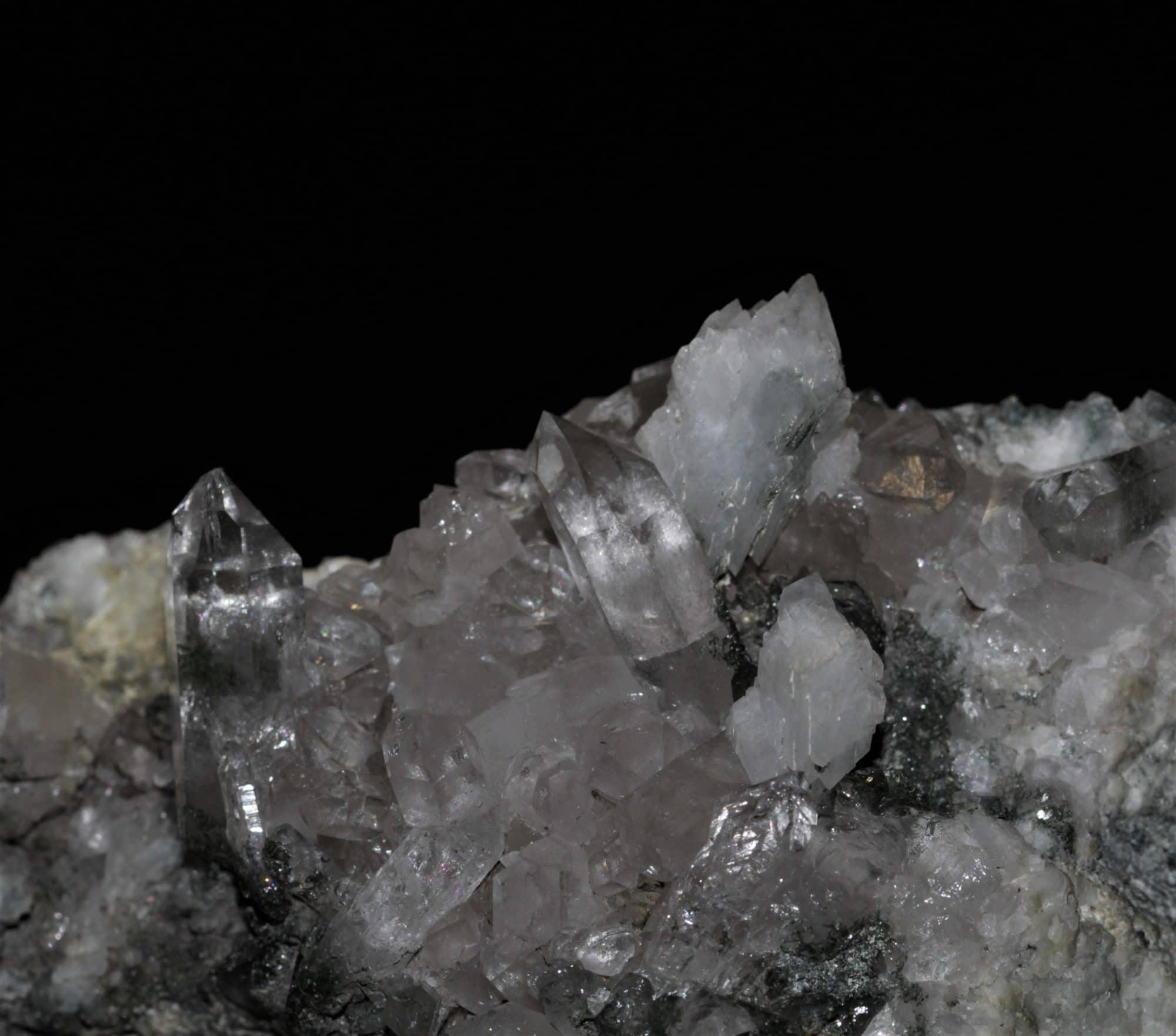 Adulaire et quartz, Les Contamines Montjoie, Haute-Savoie.