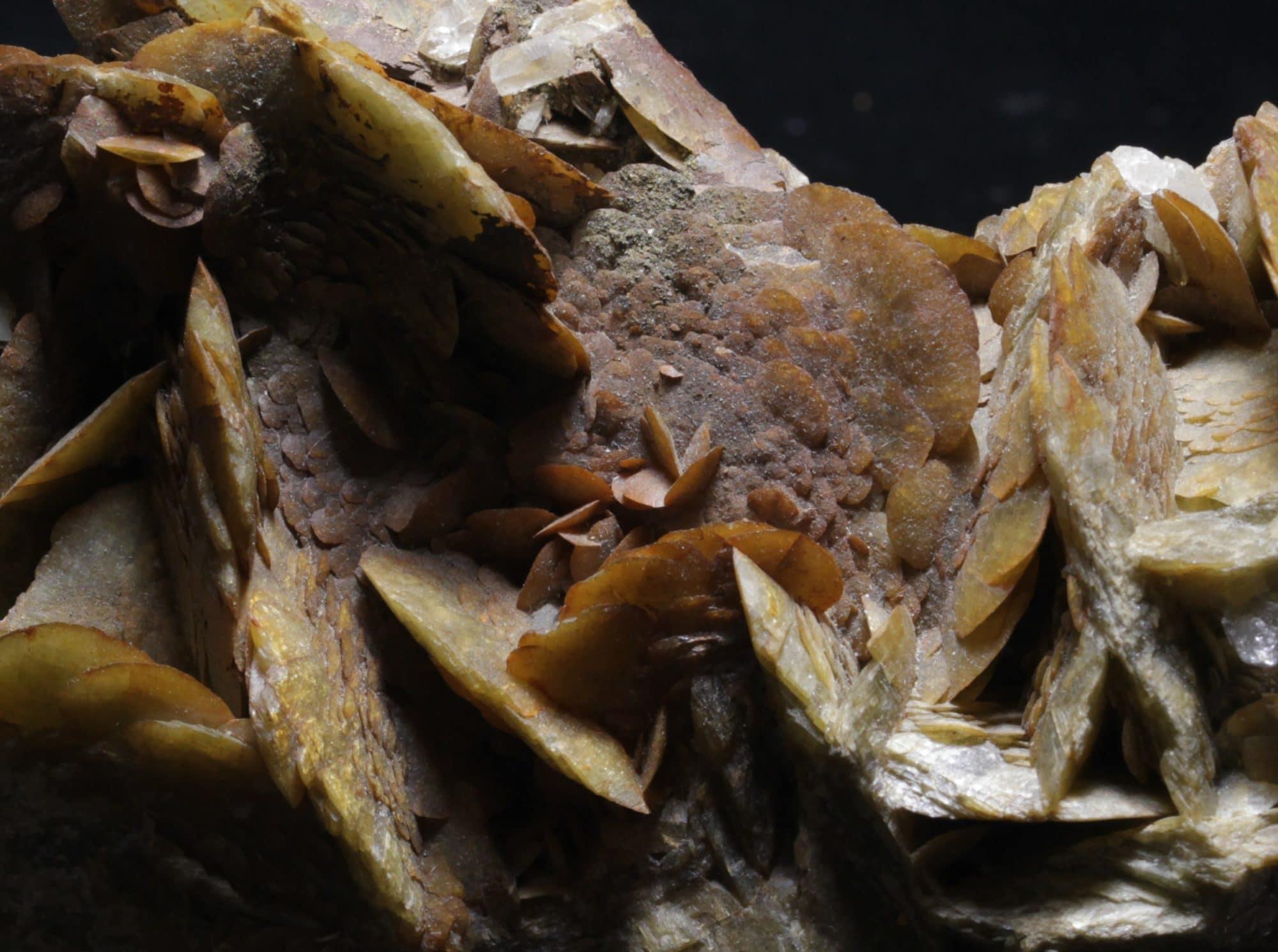 Cristaux de sidérite de la mine de la Mure en Isère (minéral alpin)