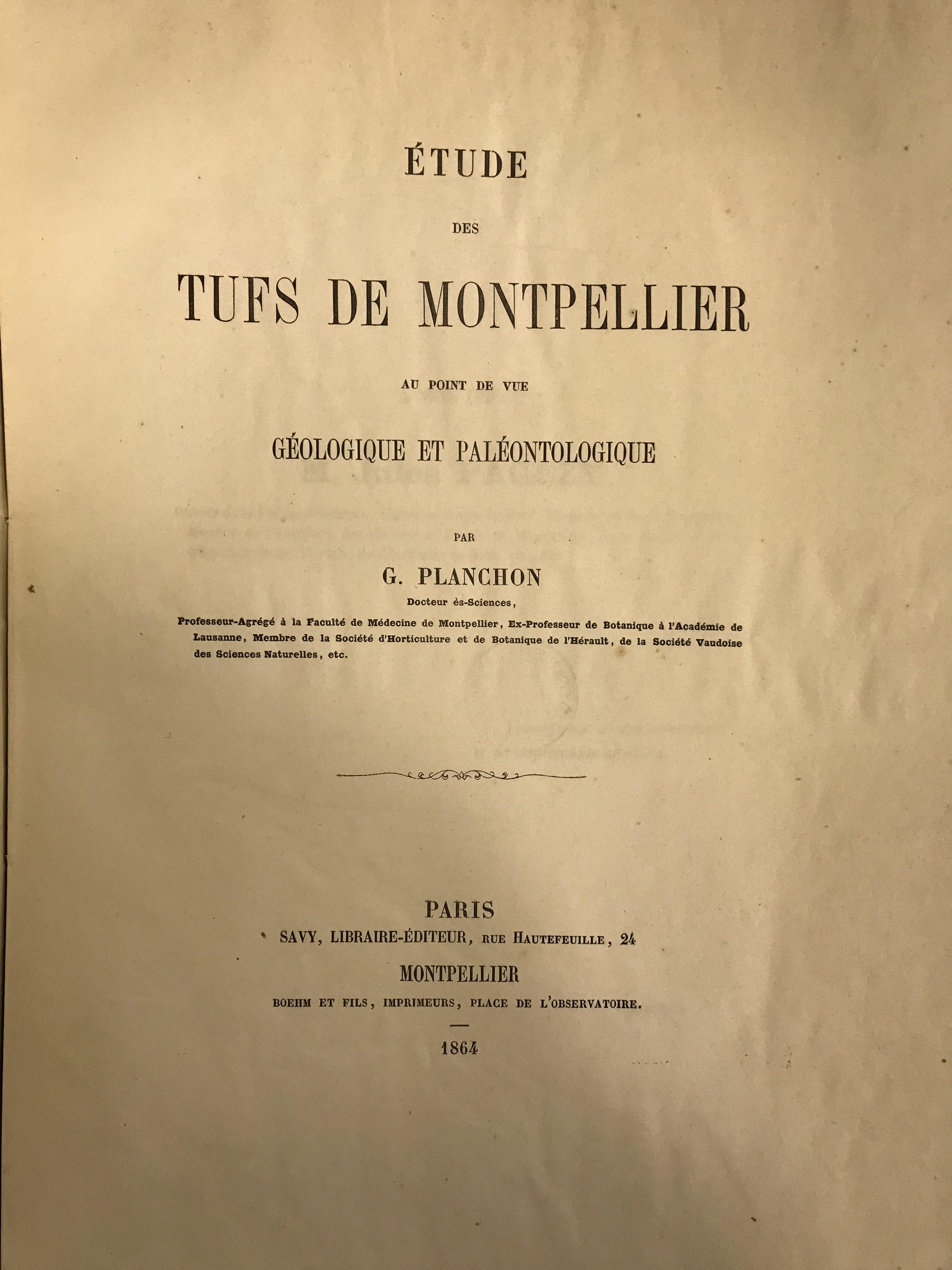 Étude des tufs de Montpellier (géologie et paléontologie)