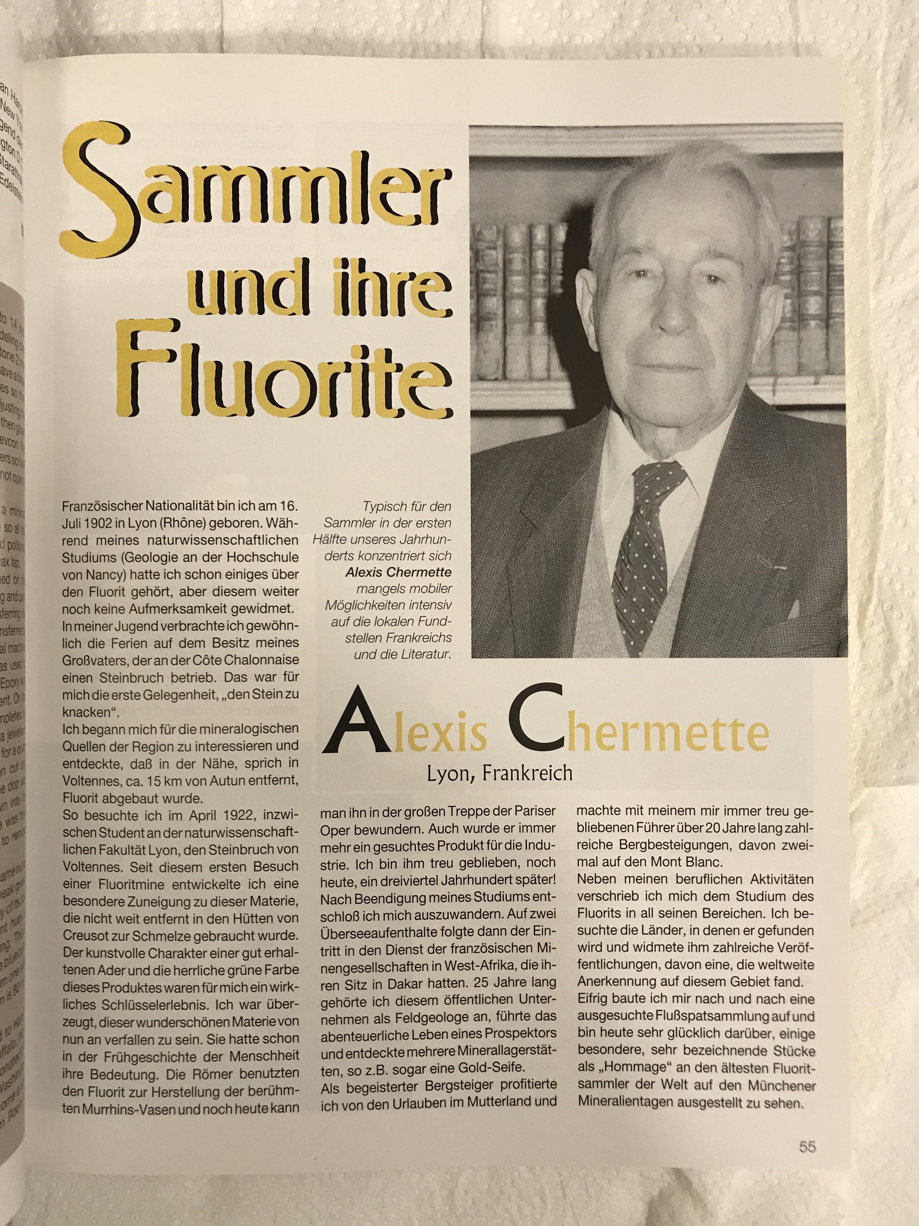 Fluorit Mineralientage Munchen 1995
