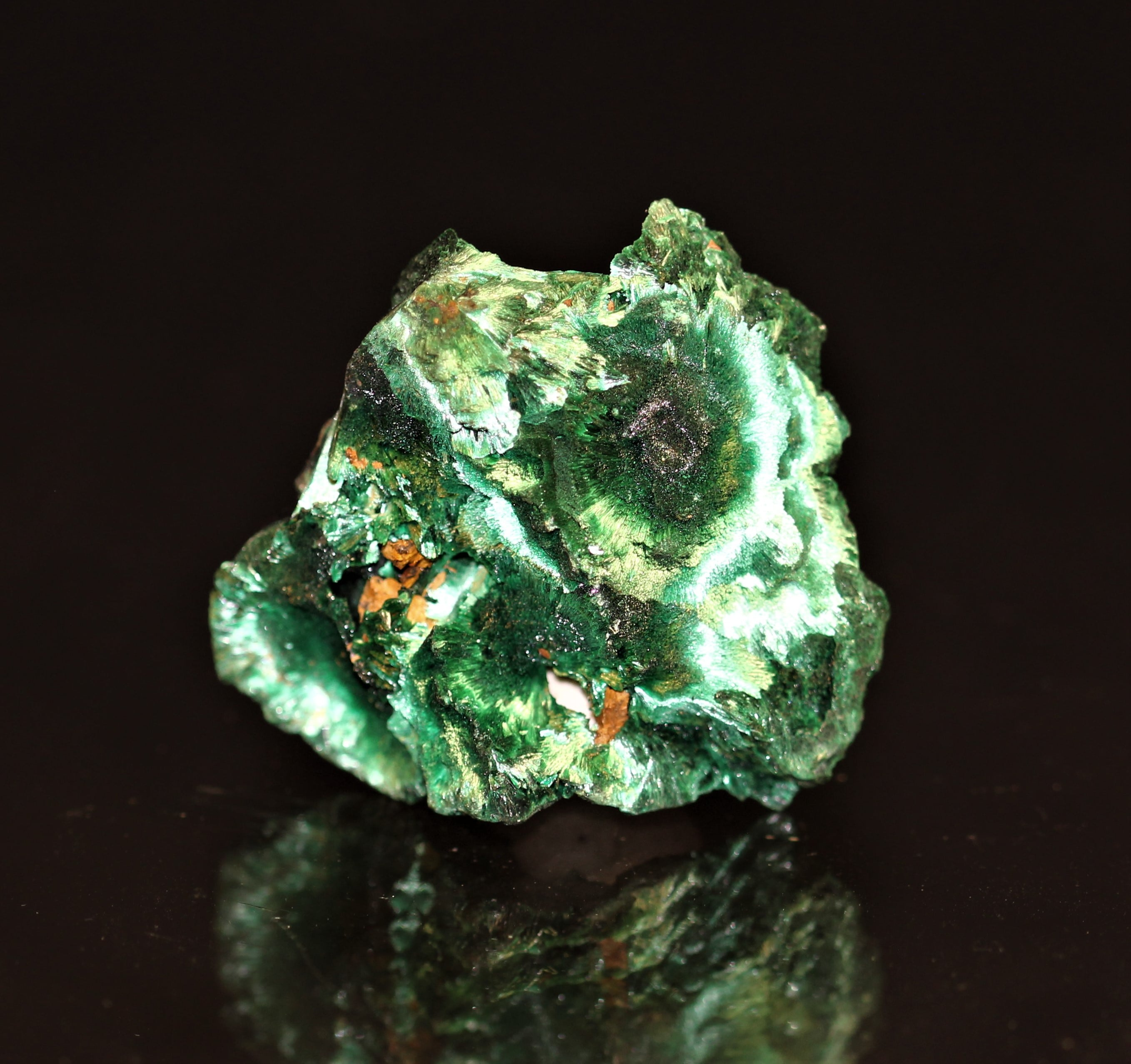 Malachite velours, mine de Chessy, Lyon, Rhône-Alpes.