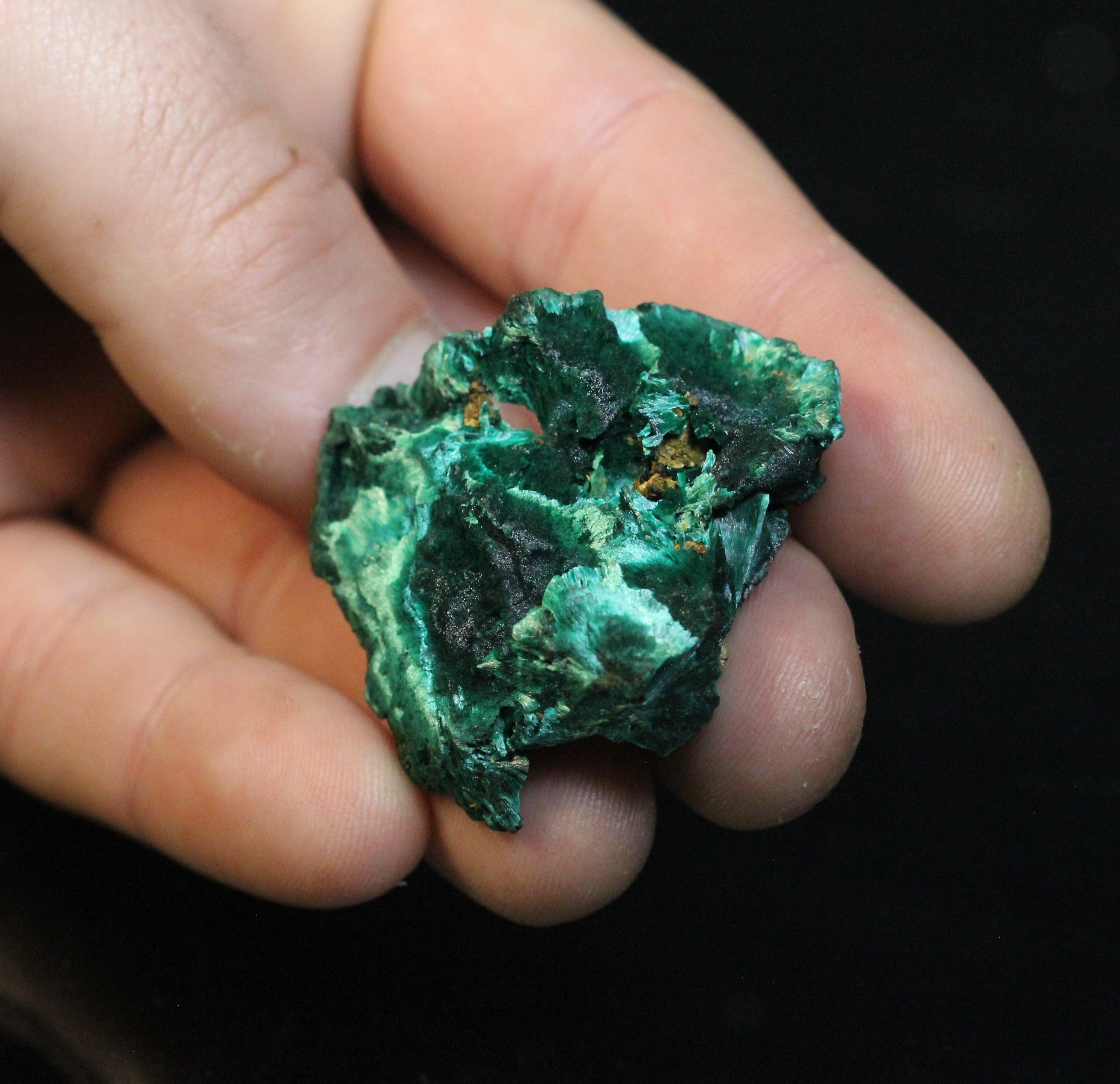 Malachite, mine de Chessy, près de Lyon, Rhône.