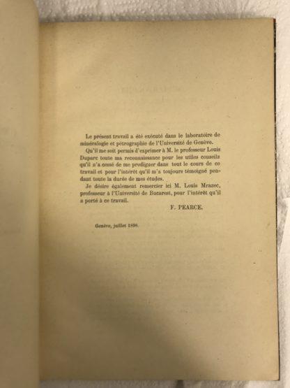 Livre de géologie, thèse de Pétrographie : Recherches sur le versant sud-est du massif du Mont-Blanc.