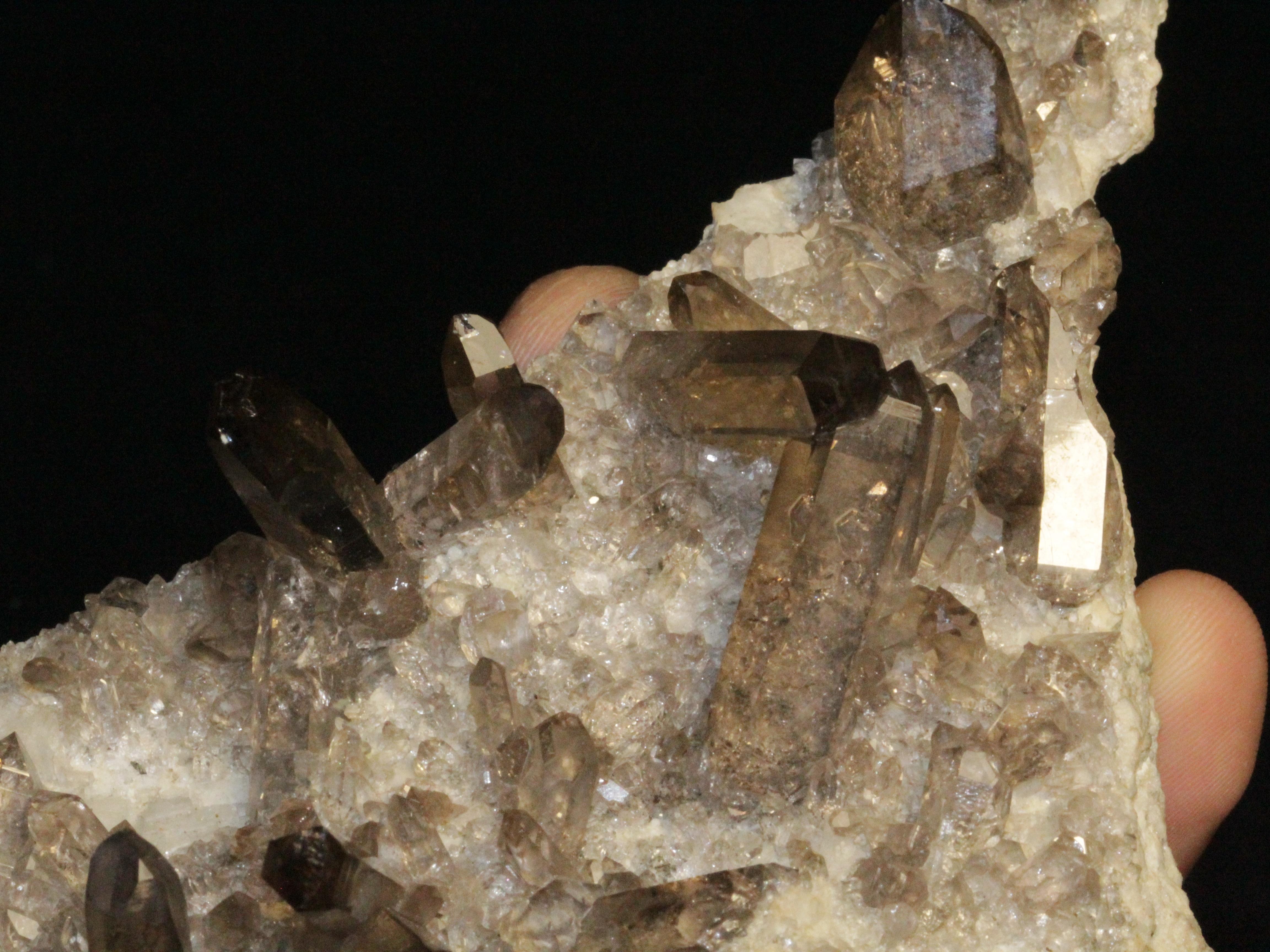 Plaque de quartz fumé, Grimsel, Suisse.