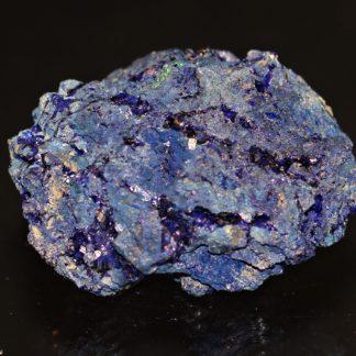 Nodule d'azurite bleu nuit, mine de Chessy, Rhône.