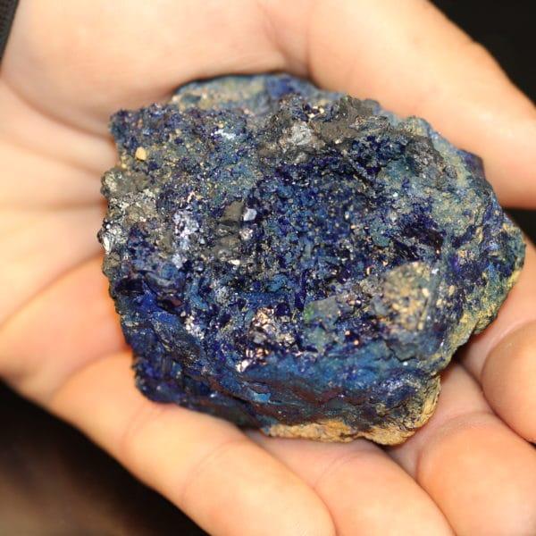 Azurite ou chessylite de la mine de Chessy, Rhône-Alpes.