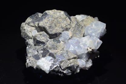 Galène et fluorine bleue, Durfort, Gard