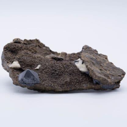 Galène sur sphalérite (blende), mine de Planioles, Lot.