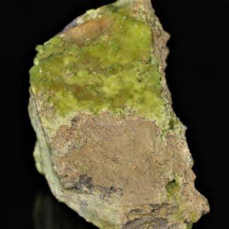 Pyromorphite, mine de la Vidale, Asprières, Aveyron.