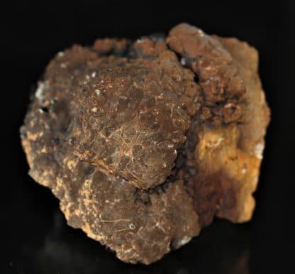 Pseudomorphose de pyromorphite en plomb-gomme, Echassières, Allier.