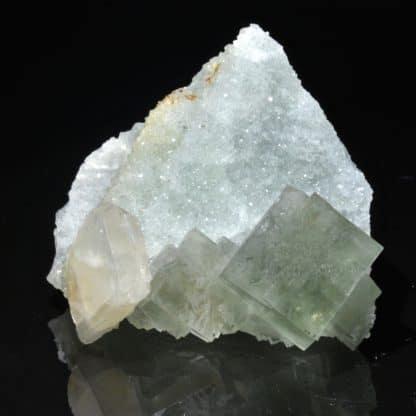 Fluorite verte et baryte, L'Avellan, Var.