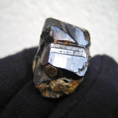 Cassitérite, mine de la Villeder, Morbihan, Bretagne.