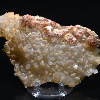 Quartz et fluorine rouge, L'Argentolle, Saône-et-Loire, Morvan.