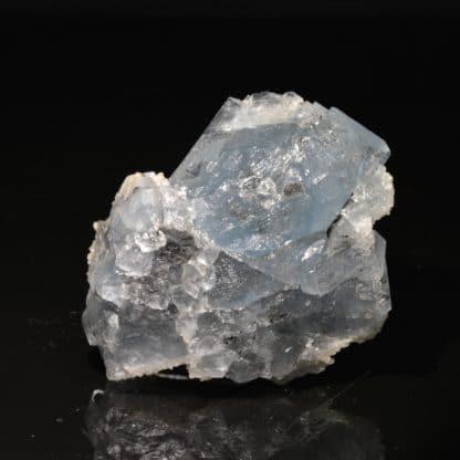 Fluorine bleue et quartz, Montroc (Tarn)