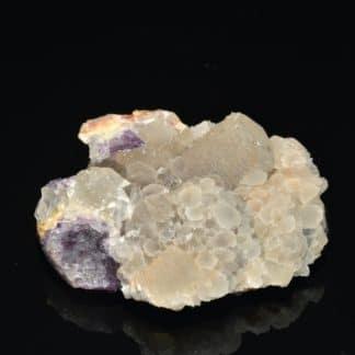 Calcite, Fluorine, Neaux, Loire. Minéral fluorescent.