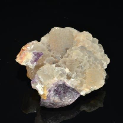 Calcite et Fluorine, Neaux, Loire, France.