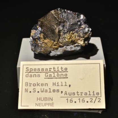Grenat spessartite et galène, Broken Hill, Australie