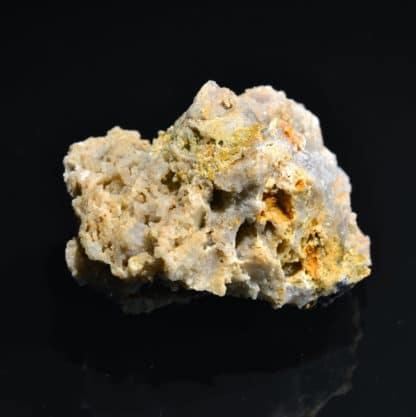 Wulfénite et galène, mine Vallaury, Le Plan-de-la-Tour, Var.