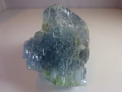 Chalcopyrite et quartz, sur fluorine bleue, Le Burg, Tarn. (81)