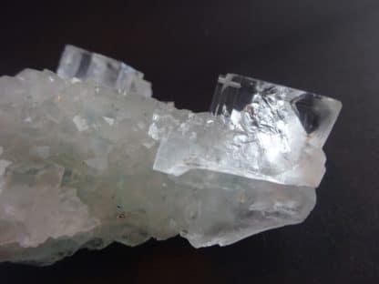 Fluorite et quartz, Marsanges, secteur Langeac, Haute-Loire (Auvergne).