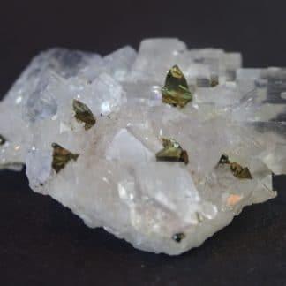 Quartz, Fluorine, Chalcopyrite de Montroc, Tarn.