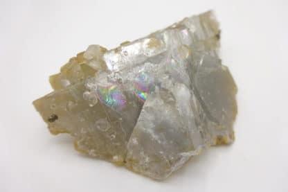 Fluorine bleue, quartz et chalcopyrite, mine du Burc, Le Burg, Tarn.