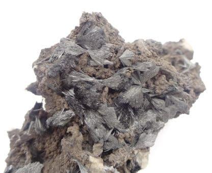 Pyrolusite, Roßbach Mine, Raubach, Rhénanie-Palatinat, Allemagne.