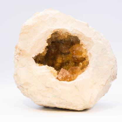 Géode de calcite, Carrière de Salviac, le Raysse, Lot.