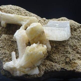 Stilbite, Calcite, Berufjord, Djúpavogshreppur, Eastern Region, Islande.