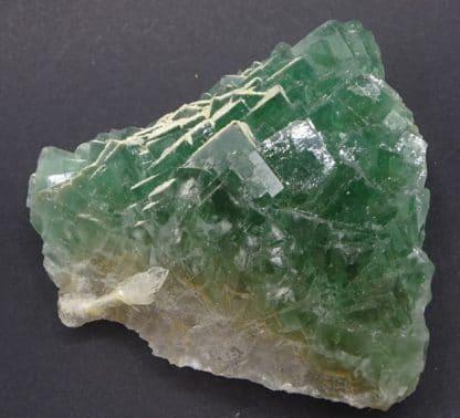 Fluorine verte et Barytine, le Figuier, mine de Fontsante, Var.