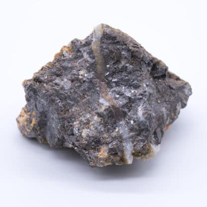 Blende (sphalérite) et quartz, Huelgoat, Finistère.