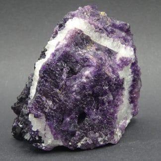 Fluorite Violette et quartz, Saint-Barthelemy, Fontsante, Var (83).