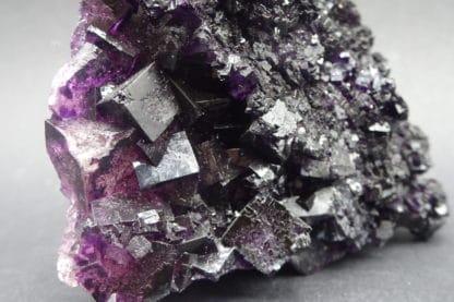 Fluorite violette et quartz, Saint-Barthélemy, mine de Fontsante, Var.