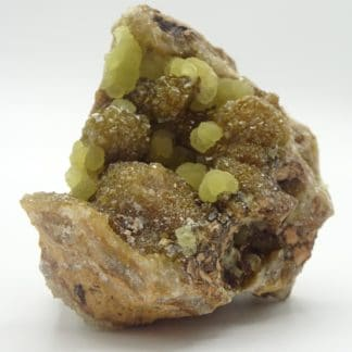 Smithsonite sur smithsonite, Vieille Montagne, Kelmis, Moresnet, Belgique.