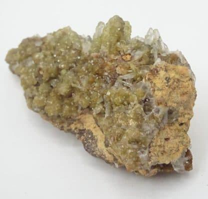 Smithsonite et Hémimorphite, Altenberg, La Calamine, Moresnet, Belgique.