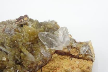 Hémimorphite et Smithsonite, Altenberg, La Calamine, Moresnet, Belgique.